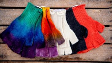 mitaines tricotées- La Laine des Coccine