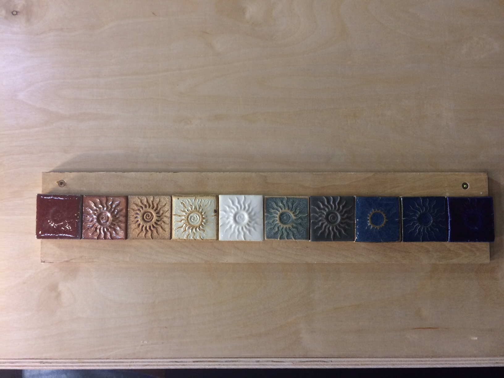 Color spectrum Glaze Sample