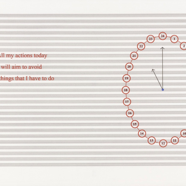 Louise Bourgeois, Untitled, no. 16 of 24 from portfolio, Hours of the Day, 2006