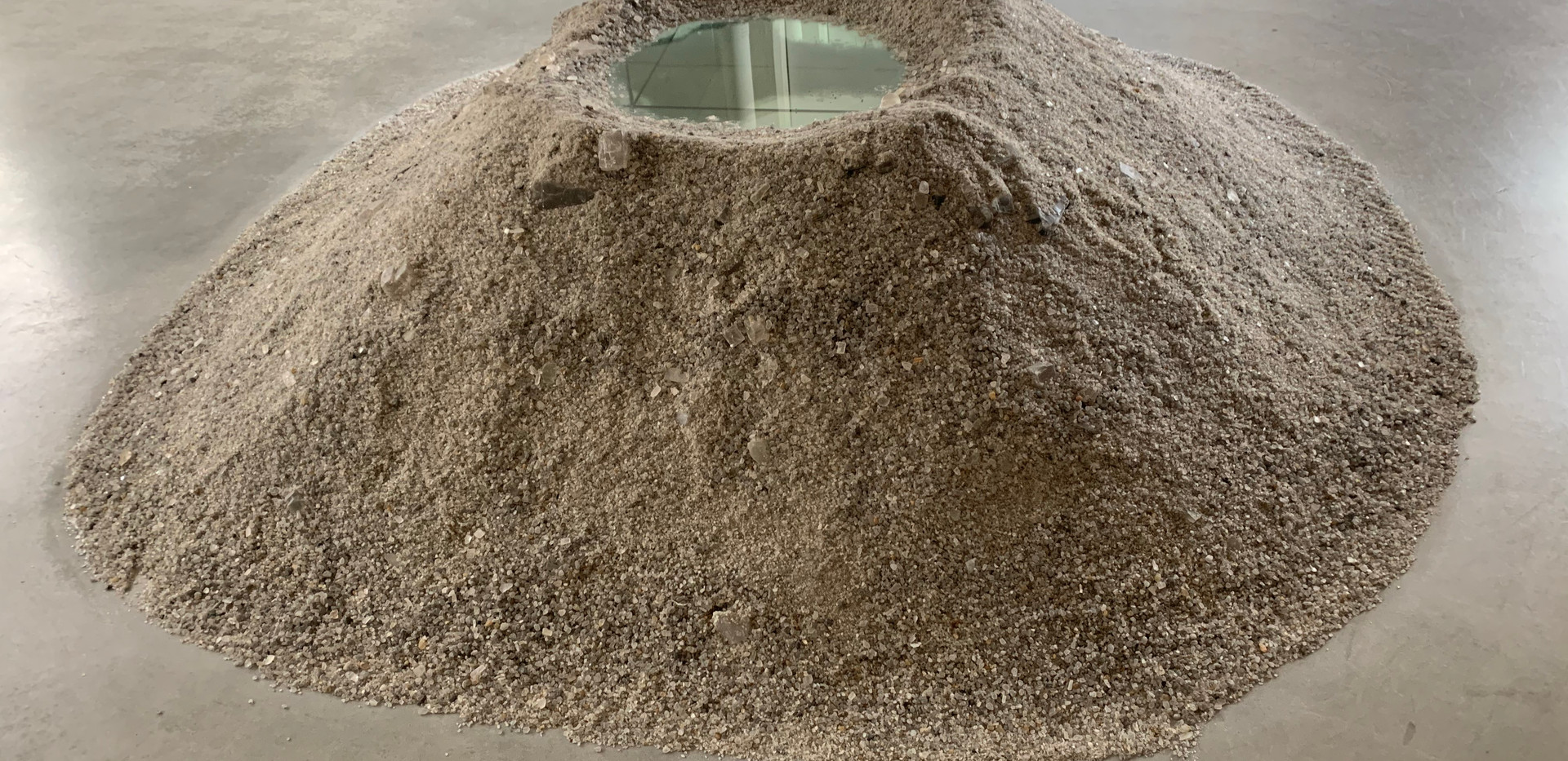 Robert Smithson, Closed Mirror Square (Cayuga Salt Mine Project), 1969