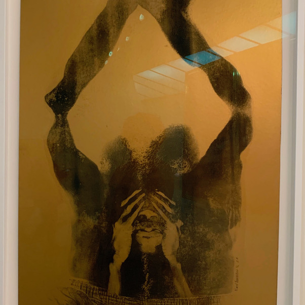 David Hammons, Close Your Eyes and See Black, 1969