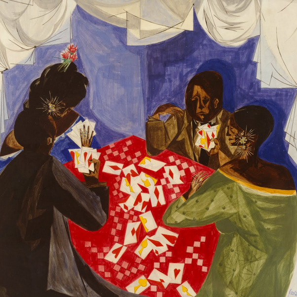 Jacob Lawrence, The Card Game, 1953