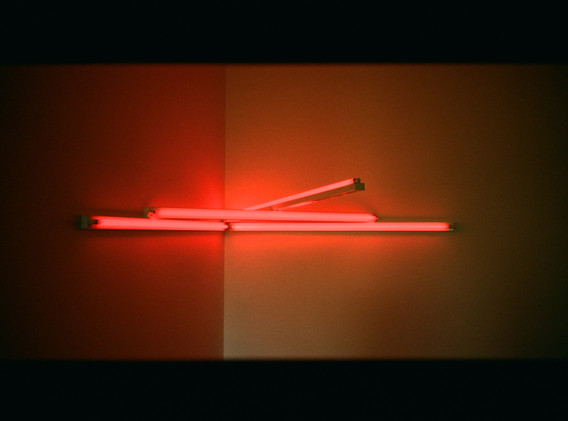 Dan Flavin, monument 4 for those who have been killed in ambush (to P.K. who reminded me about death), 1966