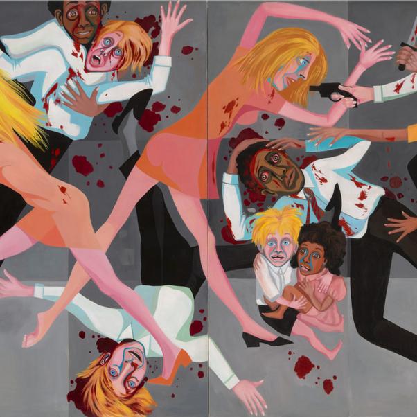 Faith Ringgold, American People Series #20: Die, 1967
