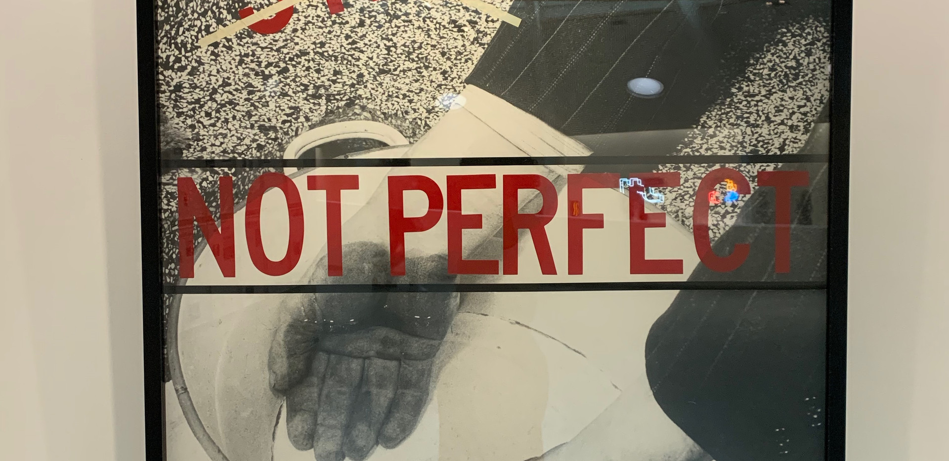 Barbara Kruger, Untitled (Not Perfect), 1980