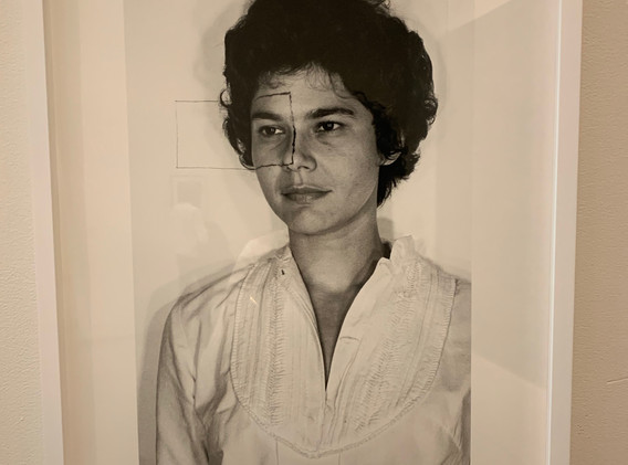 Liliana Porter, Untitled (Self-portrait with square II), 1973