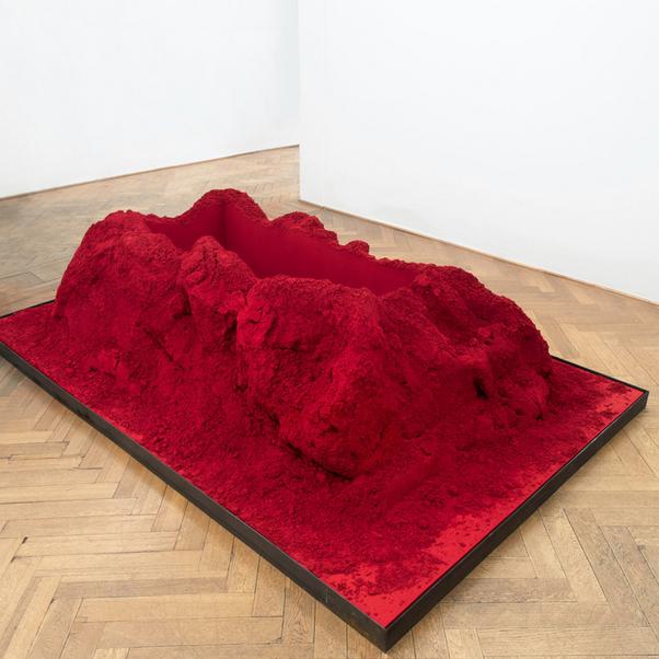 Anish Kapoor, Monochrome Grave Red, 2018