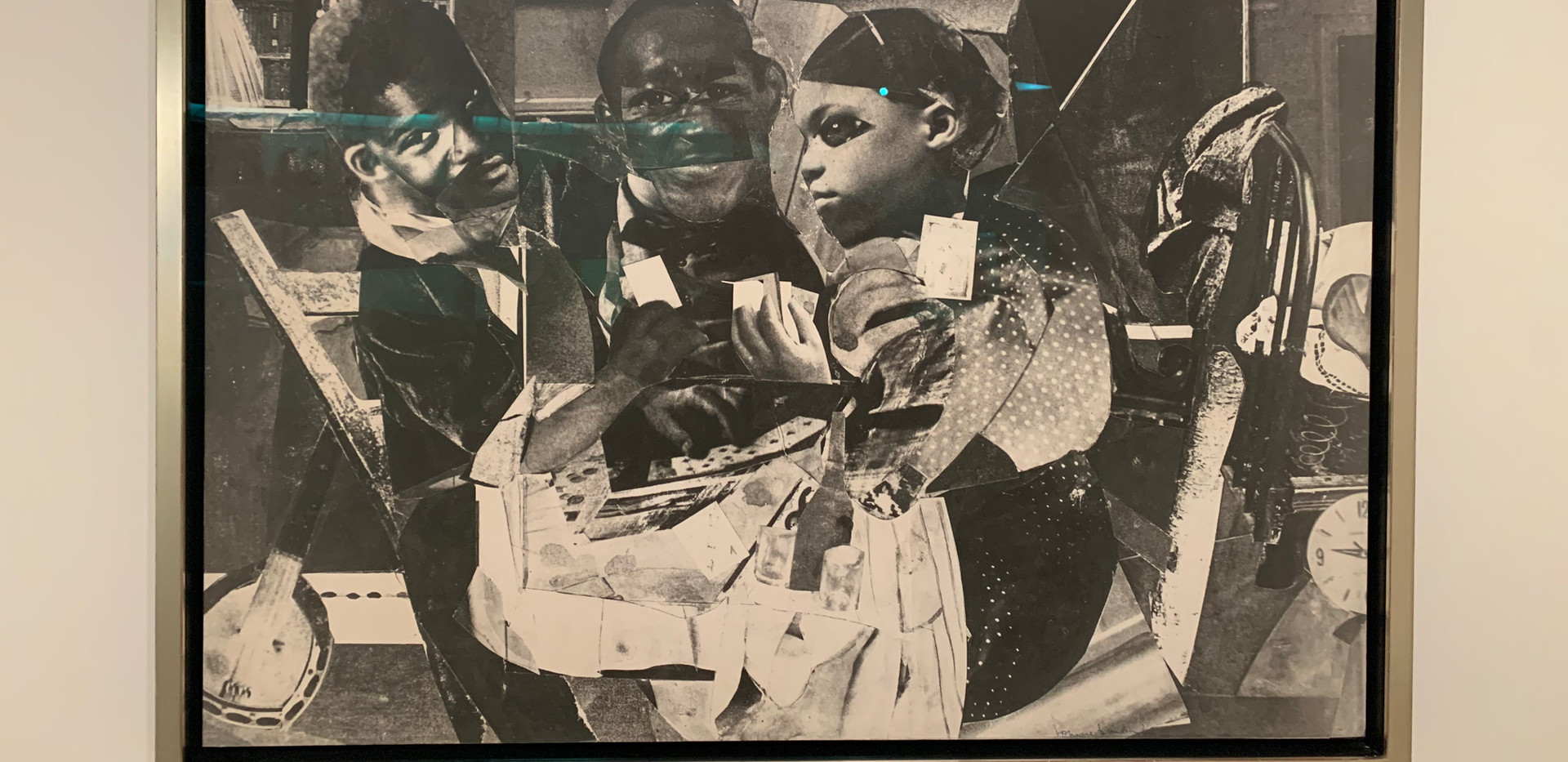Romare Bearden, Evening 9:10, 461 Lenox Ave, 1964