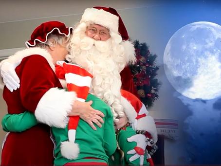 Even Santa is taking precautions this COVID Christmas season