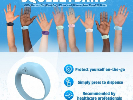 SQUEEZYBAND Announce Launch of Liquid Dispenser Wristband Used For Sanitizing (Digital Journal)