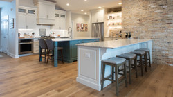 custom kitchen double island