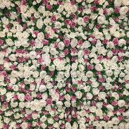 Pink and white Flower wall backdrop