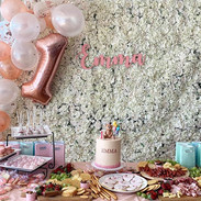 Lush white flower wall backdrop