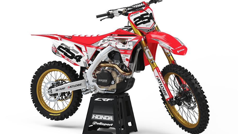 Custom dirt bike Graphics kit HONDA RED ELEGANT