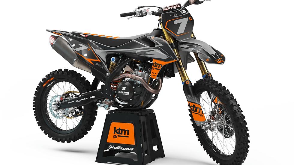 Custom dirt bike Graphics kit KTM FORCE GREY