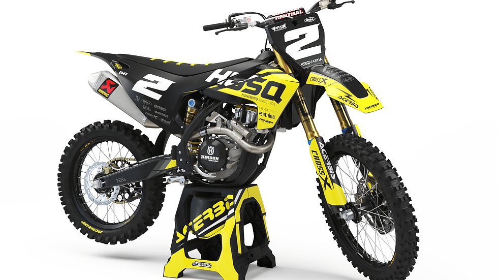 Custom dirt bike Graphics kit Husqvarna DUAL