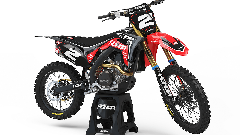 Custom dirt bike Graphics kit HONDA SHOKS DUAL
