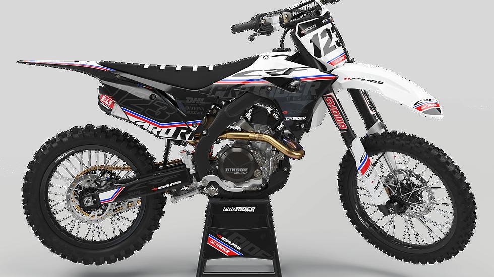 Custom dirt bike Graphics kit HONDA EVS USA