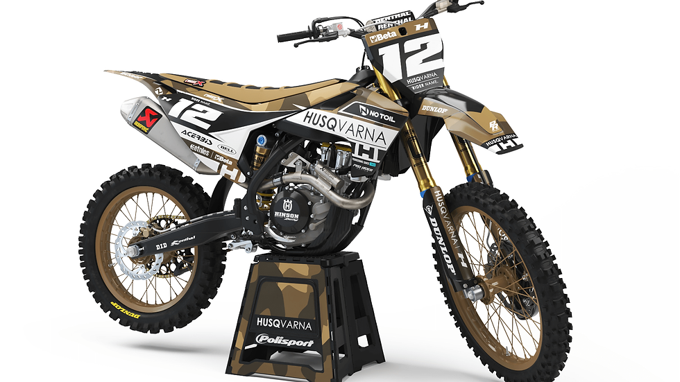 Custom dirt bike Graphics kit Husqvarna KAMO
