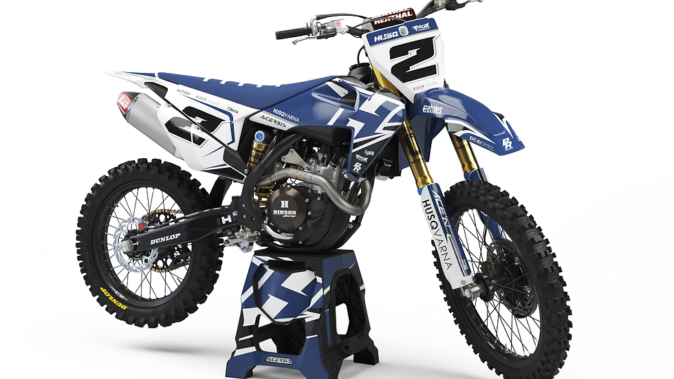 Custom dirt bike Graphics kit Husqvarna ROY BLUE