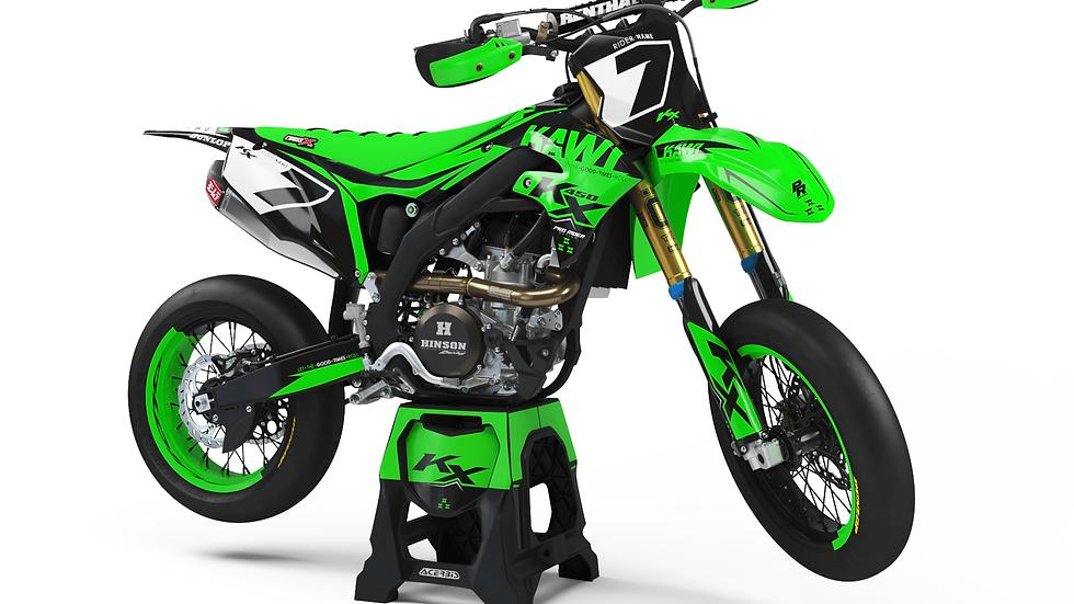 Custom dirt bike Graphics kit KAWASAKI REALITY