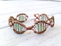 Sea Glass Cuff Bracelet