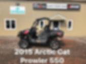 2015 Arctic Cat Prowler 550