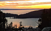 Little Herring Cove Pond and Conception Bay from Crow Head Road