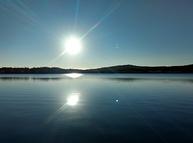 Autumn sunrise on Herring Cove Pond