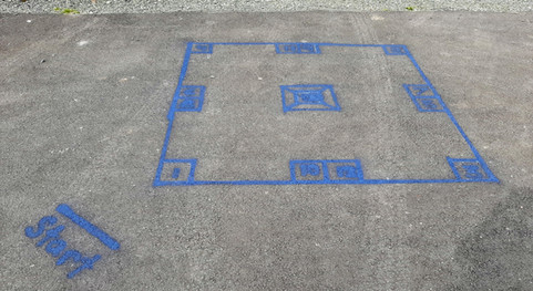 Skelly Pavement Game