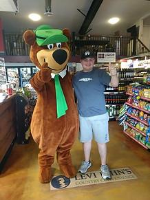 Yogi Bear and Max