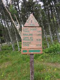 East Coast Trail Sign