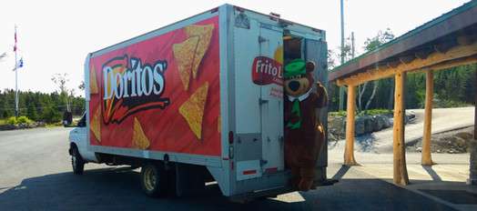 Yogi Bear acting suspicious in the chip truck...