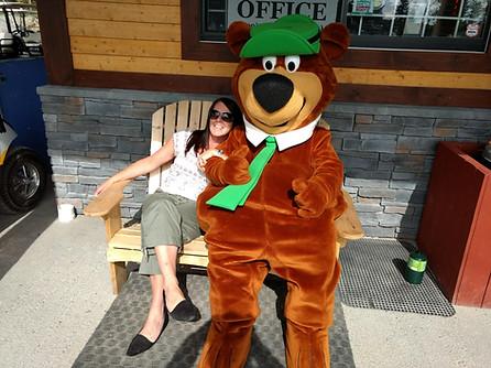 Yogi Bear with Tina