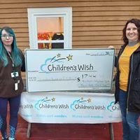 Children's Wish Foundation check presentation