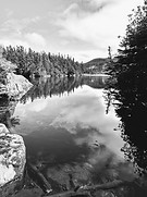 Little Herring Cove Pond BW