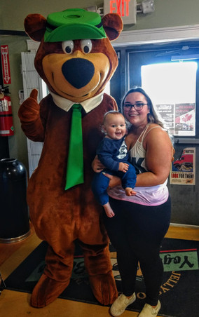 Yogi Bear with Morgan and Bently