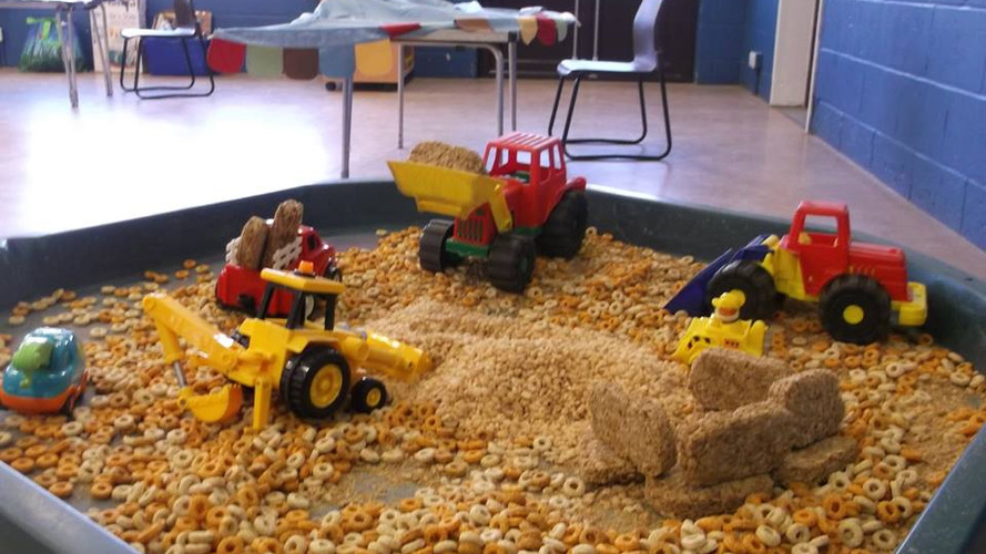Exploring the cereal farmland with our vehicles at Barkham Preschool