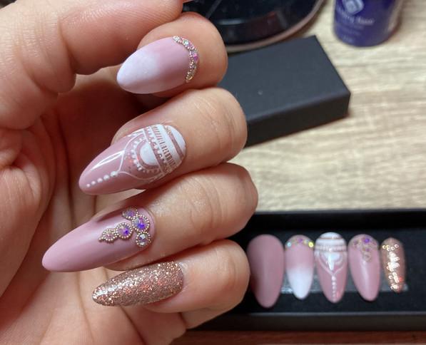 Press on nails faux ongles réutilisable à l'infinie