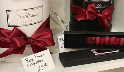 Press on Nail Haute couture avec Nail art Inspiration Rose