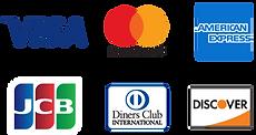 各種クレジットカードロゴ