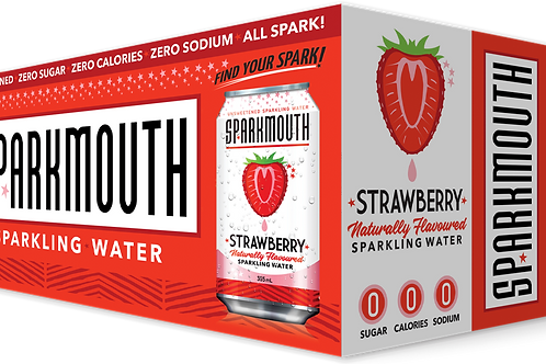 SPARKMOUTH - STRAWBERRY SPARKLING WATER - 8X355ML