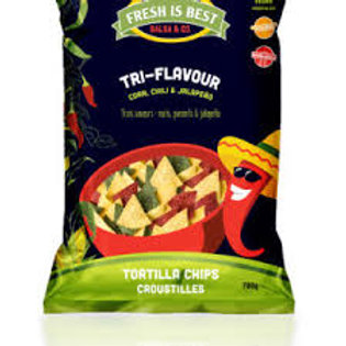 FRESH IS BEST - TRI-FLAVOR TORTILLA CHIPS