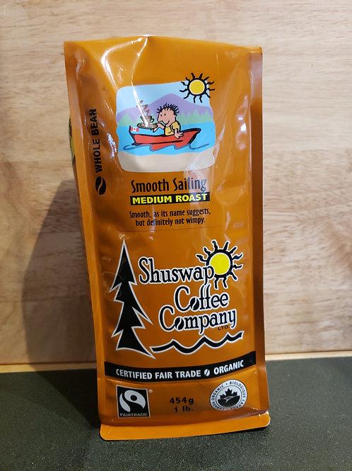 SHUSWAP COFFEE CO - SMOOTH SAILING - WHOLE BEAN - 454G