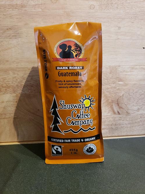 SHUSWAP COFFEE CO - GUATEMALA - WHOLE BEAN - 454G