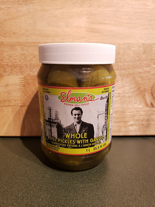 ELMANS - DILL PICKLES 1L