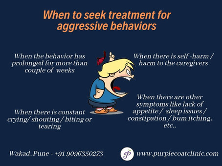 Aggressive behaviors in toddlers and children