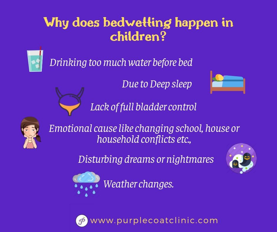 Reason for bedwetting in children