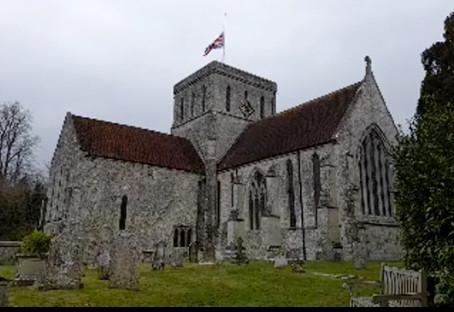 Church pays its respect for HRH Prince Philip, Duke of Edinburgh