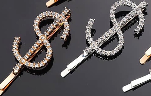 DOLLAR $IGN HAIR PINS